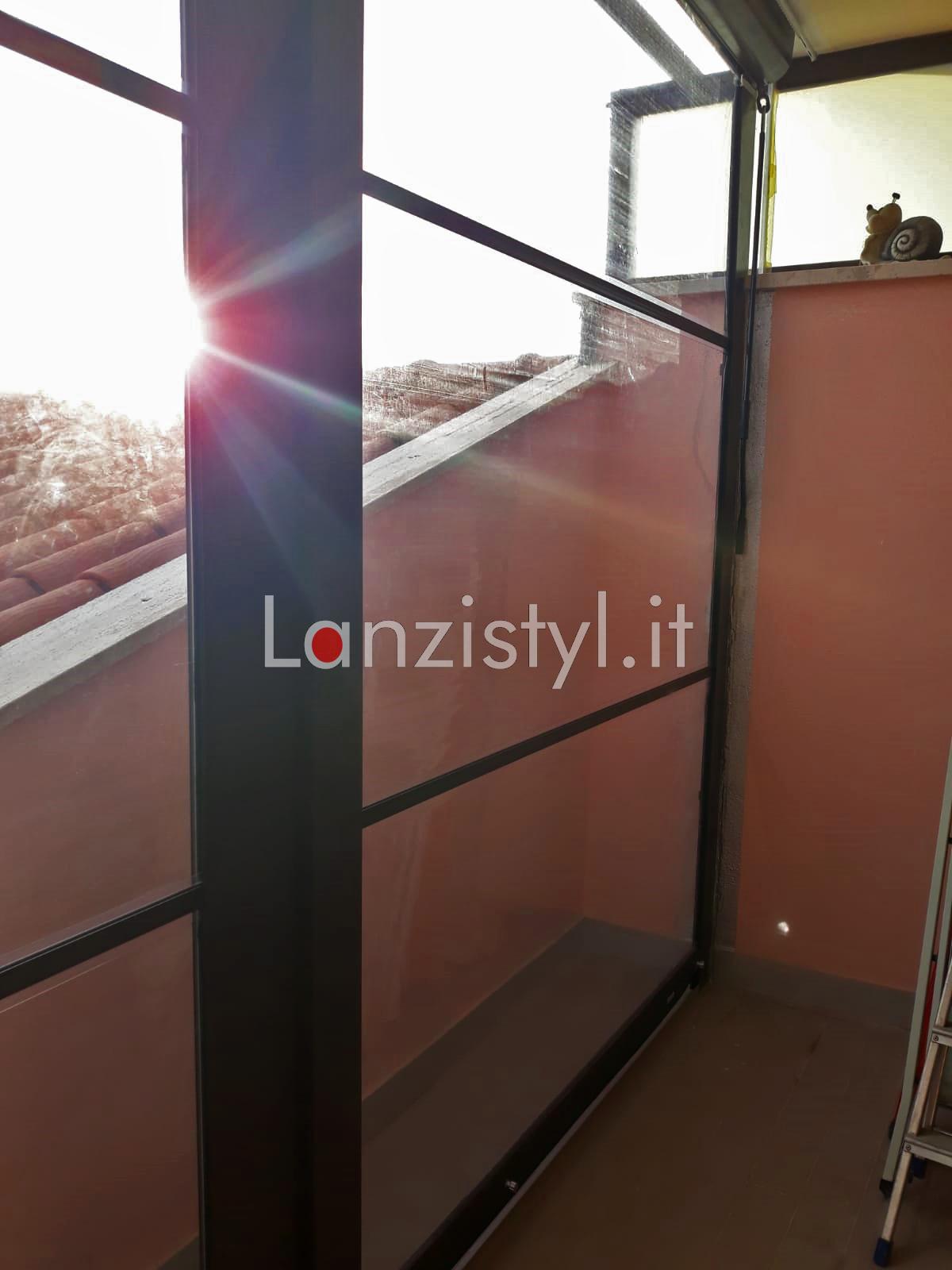 Installazione tende Cristal Irina